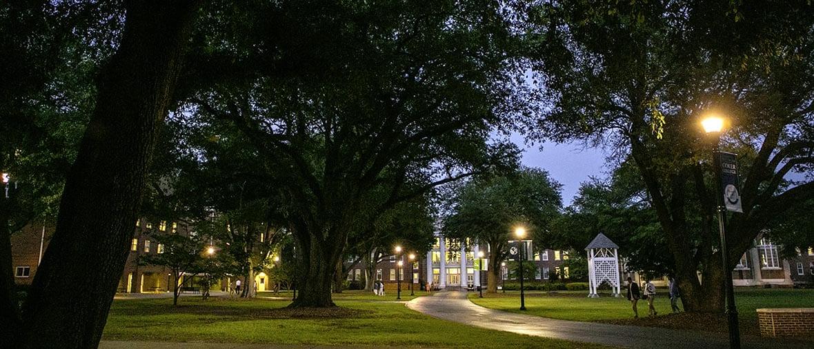 Campus at dusk